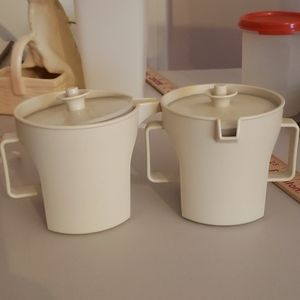 Vintage Tupperware Creamer and Sugar Container